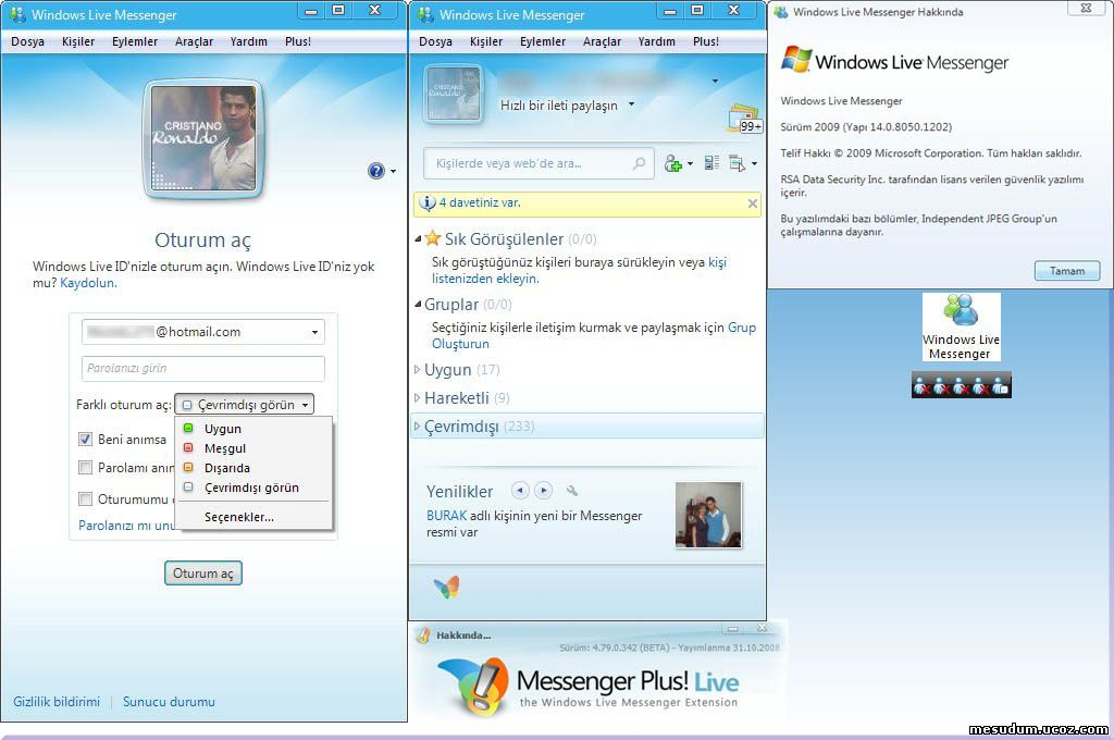 Windows Live Messenger 2009 2009 Windows Live Oturum a ma